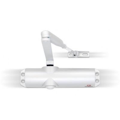 Доводчик FARGO F68 с рычажной тягой и клапаном избыточного давления, цвет белый